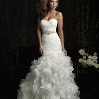 New Style 2012 Organza Mermaid Wedding dress Bridal gown Size4 6 8 10 12++++++++