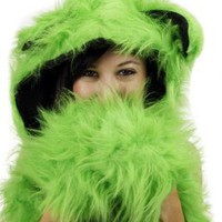Green Other - Neon Green Animal Spirit Hood | UsTrendy