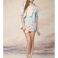 FINDERS KEEPERS Restless Farewell Blazer GEO PRINT BRIGHT