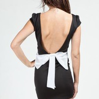 Black Little Black Dress - Bow Back Dress | UsTrendy