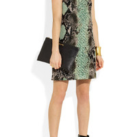 Gucci | Python-jacquard mini dress | NET-A-PORTER.COM