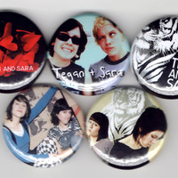 Tegan and Sara - Set of 5 - So Jealous If It Was You Indie Rock Folk Rock Indie Pop Alternative Buttons Pins Badges Pinback