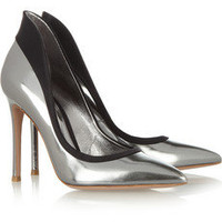 Gianvito Rossi | Satin-trimmed leather pumps | NET-A-PORTER.COM