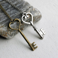 Key Necklace on Chain 15 different keys to choose by greenduckweed