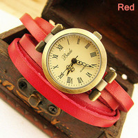 Fashion Vintage Style Multi-wraps Thin Belt Retro Watch-