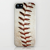 Vintage Baseball Stitching iPhone Case by EyeShutterToCall | Society6
