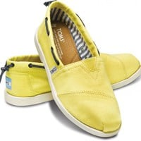 Yellow Nautical Women's Bimini | TOMS.com