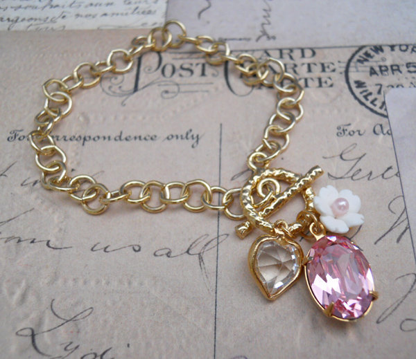 Pink Bracelet/Cuff - Lolita 14K GP Bracelet | UsTrendy