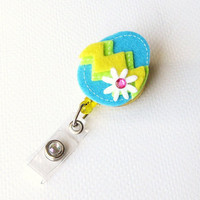 Buy One Get One Free  Turquoise Easter Egg  by BadgeBlooms on Etsy