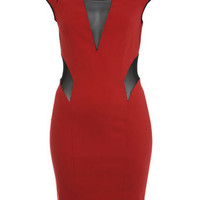 Red Bodycon Dress - Going Out Dresses  - Dress Shop  - Miss Selfridge