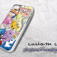 adventure time custom black and white case for iphone 4/4s,iphone 5