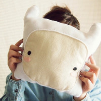 Handmade Finn the Human Inspired Microfleece Pillow