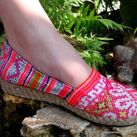 Colorful Hmong Embroidered & Batik Womens by SiameseDreamDesign