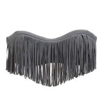 Fringe-Trim Bandeau Bikini Top: Charlotte Russe