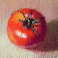 You Say Tomato I Say   6 x 6 Original Pastel by LittletonStudio