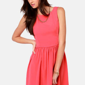 Countess of Cute Coral Pink Dress