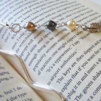 Beaded Bookmark with Sterling Silver Frog by JuJuBeader on Etsy