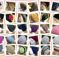 Hand Knit hats, hand crocheted hats