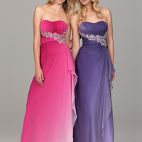 Free shipping:Beautiful Sheath/Column Scoop Neckline Sweep Train Chiffon Prom Dress-SinoSpecial.com