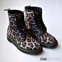 Leopard Print Doc Martens Boots UK 4 US 65 by oakvintage on Etsy