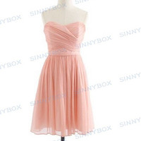 A line sweetheart evening dress, prom dress, bridesmaid dress, short dresses, custom made dress