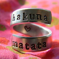 The original Hakuna Matata Version I.2 Aluminum swirl ring