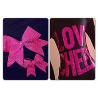 Love Cheer Black & Pink Cheerleading Zip Up Hoodie by Bowfriendz