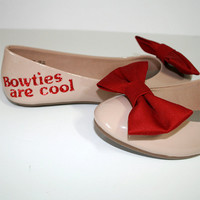 Doctor Who bow ties are cool ballet flat shoes by PinkoMinko