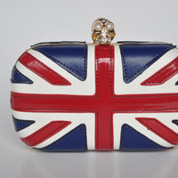 Union Jack Skull Clutch Handmade beautiful by BritHeart on Etsy