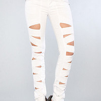 The Z Cut Jean in White : Tripp NYC : Karmaloop.com - Global Concrete Culture