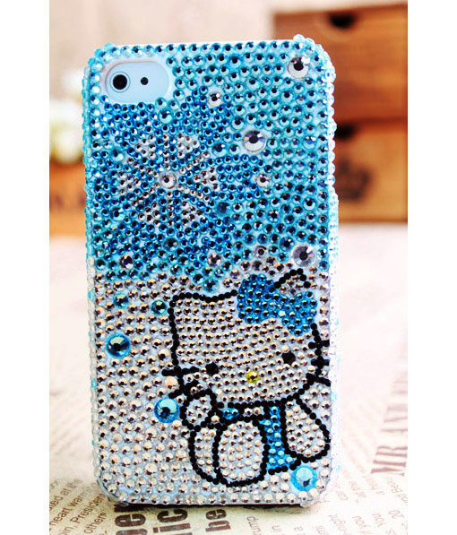 Apple iPhone 4S 4G 3GS iPod Touch 4G Hello Kitty Handmade Crystal Case - GULLEITRUSTMART.COM