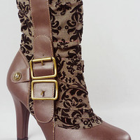 Brocade Brigade Ankle Boots | PLASTICLAND