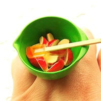 Kawaii Food Ring Apples In A Mixing Bowl by SouZouCreations