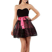 Betsey Johnson Teen Vogue Strapless Dress Size 0 Pink