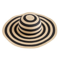 Summer straw hat in stripe - scarves & hats - Women's accessories - J.Crew