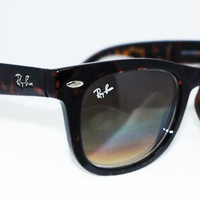 New Rayban Wayfarer Folding RB4105 Tortoise Ray ban
