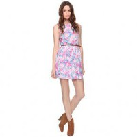 Bqueen Elegant Printed Mini Dress F052E - Designer Shoes|Bqueenshoes.com