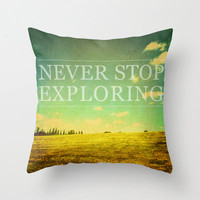 decorative pillow cover- home decor- photo pillow- nature photo- typography- inspiring quote- green- vintage- landscape