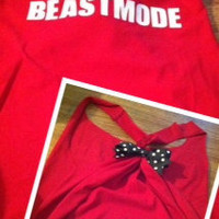 Red Beastmode Racerback Work-out Tank Top