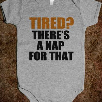 Tired? - Baby Onsie-Unisex Heather Grey Baby Onesuit 00