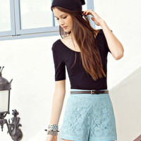 High Rise Lace <br> Shorts | FOREVER21 - 2000037860
