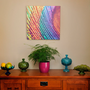 "SALE - 20""x20"" Gallery Thin Wrapped Canvas - Bright Peacock Feather - Made by artstudio54 on ETSY"