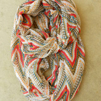 Zig Zag Circle Scarf [3810] - $16.00 : Vintage Inspired Clothing & Affordable Fall Frocks, deloom | Modern. Vintage. Crafted.
