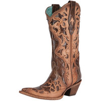 Corral Chocolate Tufie Sand-13 Top Cowgirl Boots