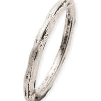 Stackable Hammered Band Ring