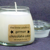 German Chocolate Cake Soy Candle Jar - Hand Poured and Highly Scented Container Candles