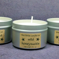 Pick Any 3 Soy Candle Tins - Your Choice Hand Poured and Highly Scented Container Candle Sampler Pack