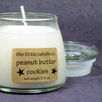 Peanut Butter Cookies Soy Candle Jar - Hand Poured and Highly Scented Container Candles