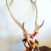 RESERVED Botanical Sika Deer Skull