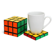 ThinkGeek :: Rubik&#x27;s Cube Coasters